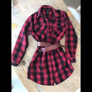Thick flannel dress, M also be worn as a jacket.